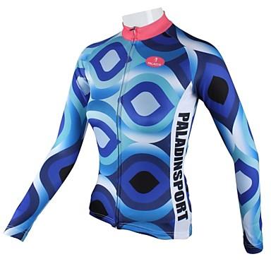 ILPALADINO Pentru femei Manșon Lung Jerseu Cycling Bicicletă Jerseu, Uscare rapidă, Respirabil
