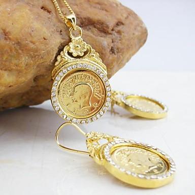 Pentru femei Set bijuterii - Zirconiu, Placat Auriu Include Auriu Pentru Nuntă / Petrecere / Zilnic / Σκουλαρίκια / Coliere