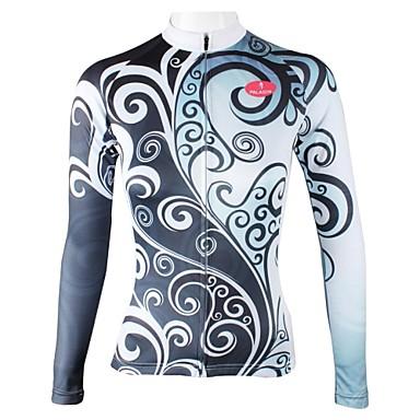 ILPALADINO Wielrenshirt Dames Lange mouw Fietsen Shirt Kleding Bovenlichaam Sneldrogend Ademend 100% Polyester Flora / Botanisch Lente