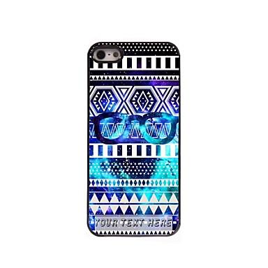 cazul în care telefonul personalizate - ochelari de caz de design din metal cadru pentru iPhone 5 / 5s