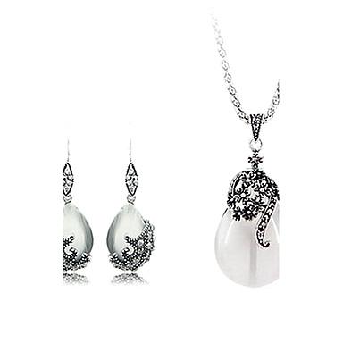 Damen Opal Tropfen Schmuck-Set Ohrringe / Halsketten - Modisch / Europäisch Weiß Schmuckset Für Party / Geburtstag / Verlobung