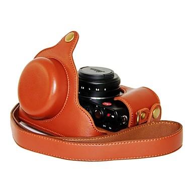 ieftine Cameră Foto, Fotografie & Video-pajiatu® pu camera de cereale din piele litchi capac sac de caz de protecție pentru aparat foto digital Panasonic Lumix lx7 / leica d-lux6