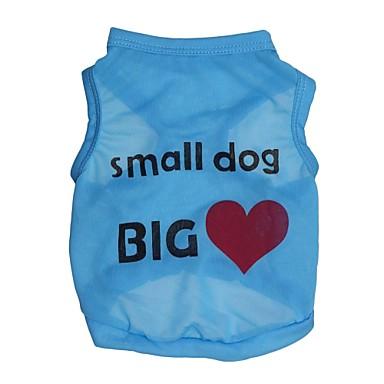 Pisici Câine Tricou Îmbrăcăminte Câini Inimă Literă & Număr Albastru Roz Terilenă Costume Pentru animale de companie