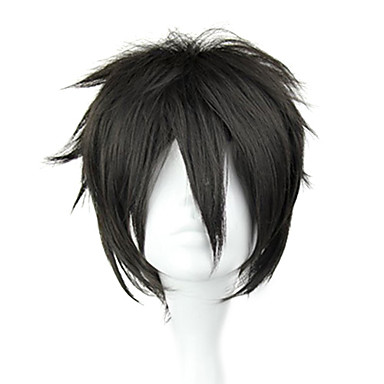Buy Cosplay Wigs Sword Art Online Kirito Black Short / Straight Anime 32 CM Heat Resistant Fiber Male