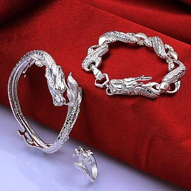 design vestimentar argint placat (include bratari&inel) Set de bijuterii incrustate cu zircon (1 set)