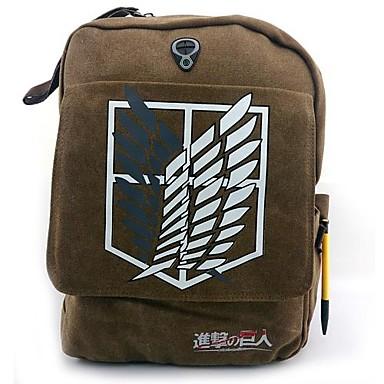 Tasche Inspiriert von Attack on Titan Cosplay Anime Cosplay Accessoires Tasche Rucksack Segeltuch Nylon Herrn neu