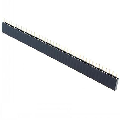1x40 หญิง 40 หัวหมุดแถวเดียว 2.54 mm สนามตรงส่วนหัวเข็มเข็มหญิง (15pcs)