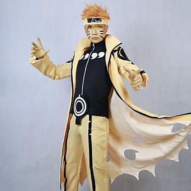 Вдохновлен Наруто Косплей Аниме Косплэй костюмы Косплей Костюмы Пэчворк Длинный рукав Пальто Брюки Назначение Муж.