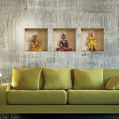 3D Wand-Sticker 3D Wand Sticker Dekorative Wand Sticker, Vinyl Haus Dekoration Wandtattoo Wand