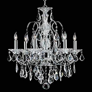 QINGMING® Traditionell-Klassisch Kronleuchter Deckenfluter - Kristall, 110-120V 220-240V Glühbirne nicht inklusive