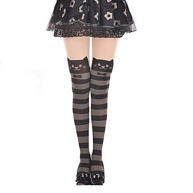 Oberschenkellange Socken Strümpfe / Strumpfhosen Niedlich Lolita Prinzessin Damen Lolita Accessoires Gestreift Streifen Strümpfe Samt