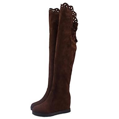 женская обувь модные сапоги танкетка за сапоги больше цветов