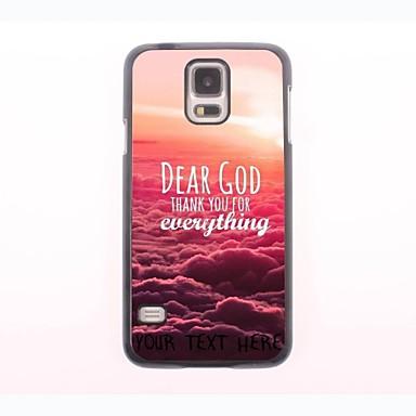 персонализированные телефон случае - Дорогой Бог металлический корпус дизайн для Samsung Galaxy S5 мини