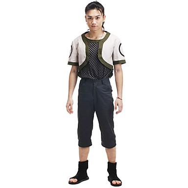 Inspirerad av Naruto Shikamaru Nara Animé Cosplay-kostymer cosplay Suits Lappverk Kortärmad Kappa Byxor T-shirt Till Herr