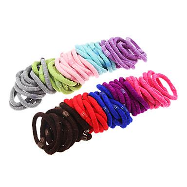 100pcs mehrfarbige flauschige Haarbänder
