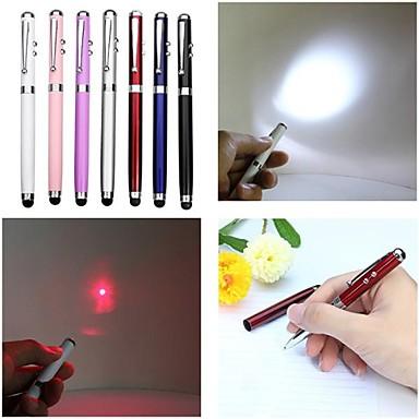 -lt 4-în -1 funcție pix capacitiv atinge roșu laser pointer (2mw.650nm.3 x buton cell.multicolor)