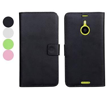 Maska Pentru Nokia Lumia 1520 Nokia Carcasă Nokia Titluar Card Portofel Cu Stand Culoare solidă Greu pentru