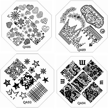 1 Other Decorations Nail Stamping Template Daily Fruit Flower Abstract Cartoon Fashion Lovely Wedding High Quality