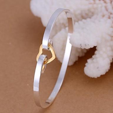 Kadın's Yuvarlak Halhallar Gümüş Mücevher Düğün Yıldönümü Doğumgünü Nişan Kostüm takısı