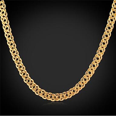 InStyle nieuwe coole mannen 18k echte dikke vergulde ketting sieraden voor mannen van hoge kwaliteit 55cm