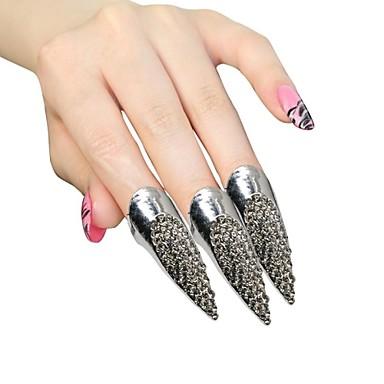 Yüzükler Kadın's / Bayanların Yapay Elmas Gümüş / alaşım Gümüş / alaşım Tek Boyut / 5 Gümüş Süslerin rengi resimde gösterildiği gibidir.