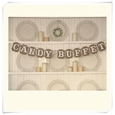 Kerstmis / Halloween / Verjaardag / valmistuminen / Bruidsshower / Schoolfeest / Babyshower Hard Kaart Paper Bruiloftsdecoraties Klassiek