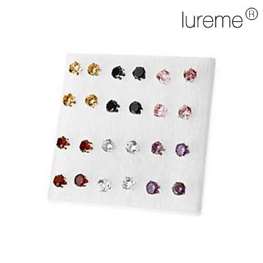 Pentru femei Cercei Stud Modă Diamante Artificiale Aliaj Circle Shape Geometric Shape Bijuterii Petrecere Zilnic Costum de bijuterii