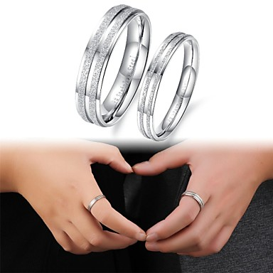 Women's Couple Rings Titanium Steel Fashion Wedding Party Daily Casual Sports Costume Jewelry