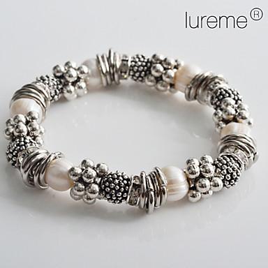 billige Motearmbånd-Dame Perlearmbånd Fritid / hverdag Mote Perle Armbånd Smykker Sølv Til Julegaver Bryllup