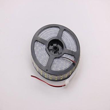 IP68 αδιάβροχο 5m 144W 600 * 5050 SMD 9600lm θερμό λευκό διπλό περίβλημα υποβρύχιο φως οδήγησε λάμπα ταινία (DC12V)
