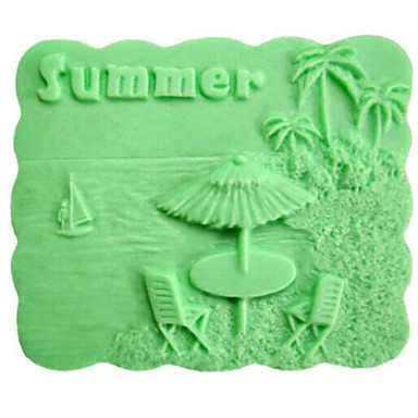 Summer Coconut Trees DIY Fondant Cake Chocolate Silicone Mold Cake Decoration Tools,L8.1cm*W7.2cm*H3.7cm