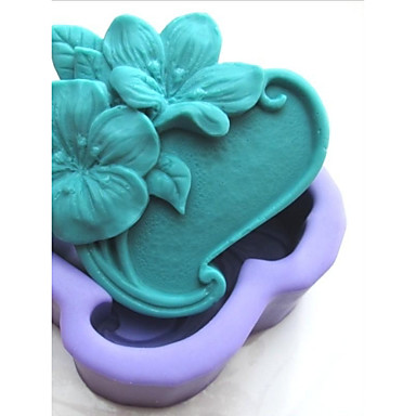 Flower Shaoed Fondant Cake Chocolate Silicone Mold Cake Decoration Tools,L9.5cm*W8.6cm*H3.5cm
