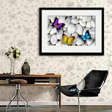 Bekeretezett vászon Bekeretezett szett Állatok Wall Art, PVC Anyag a Frame lakberendezési frame Art Nappali szoba Hálószoba Konyha Étkező
