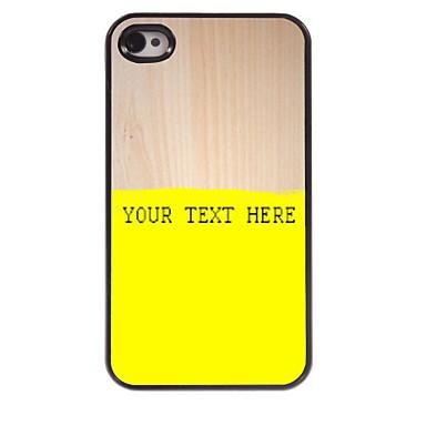 caz telefon personalizate - caz galben de metal de design pentru iPhone 4 / 4s