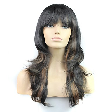 Women Synthetic Wig Wavy Black Halloween Wig Carnival Wig Costume Wig