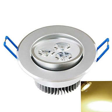 Plafonieră Spot Încastrat 3PCS COB 300-350 lm Alb Cald Decorativ AC 85-265 V