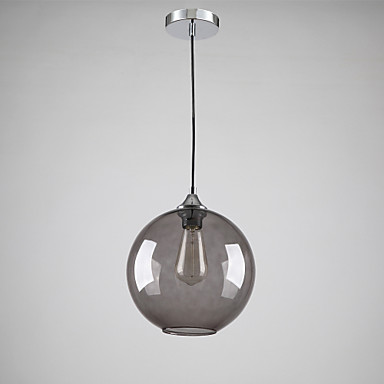 Modern glass pendant light in round smoke grey bubble design modern glass pendant light in round smoke grey bubble design mozeypictures Choice Image