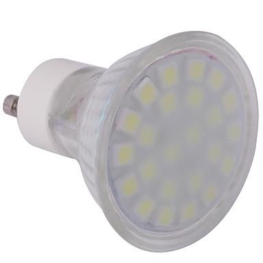 GU10 LED Spot Işıkları MR16 24 led SMD 5050 Serin Beyaz 360lm 6000-6500K AC 220-240V