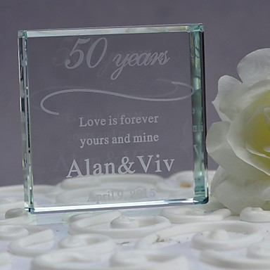 Cake Topper Holiday Classic Theme Wedding Material Crystal Wedding Party Anniversary Party / Evening with Gift Box
