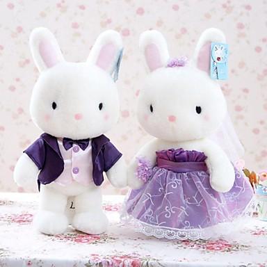 voordelige Knuffels & Pluche dieren-Rabbit Trouwjurk Knuffels & Pluche dieren Schattig Plezier Noviteit Klassiek Pluche Meisjes Speeltjes Geschenk