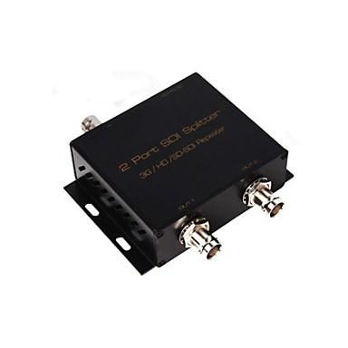 sdi hdmi splitter switcher 1 sdi giriş 2 çıkış sdi 3g hd SD-SDI tekrarlayıcı amplifikatör genişletici