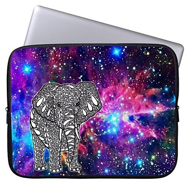 elonbo lysende stjerne og elefant 13 '' laptop vanntett etui bag for macbook pro / luft dell hk acer