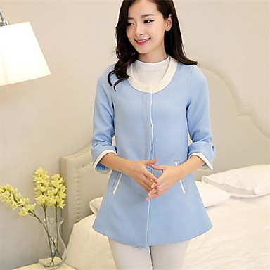 de la de estilo mujeres mangas las capa chaqueta de siete coreana waqSBF