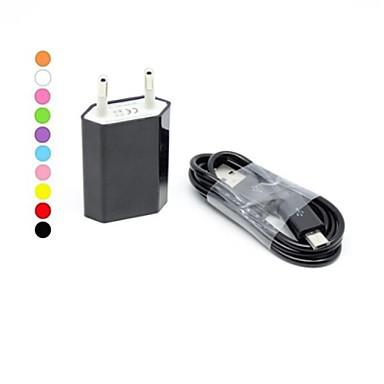 Töltő otthoni használatra / Hordozható töltő USB töltő EU konnektor Töltő szett 1 USB port