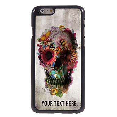 craniu personalizate caz și flori caz de metal de design pentru iPhone 6 (4.7