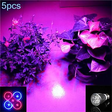 5 Stück 5 W GU10 / GU5.3 / E26 / E27 LED Spot Lampen 5 LED-Perlen Hochleistungs - LED Lila 85-265 V / RoHs