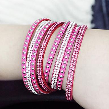 europese stijl mode wilde lange lederen armband (meer kleuren)