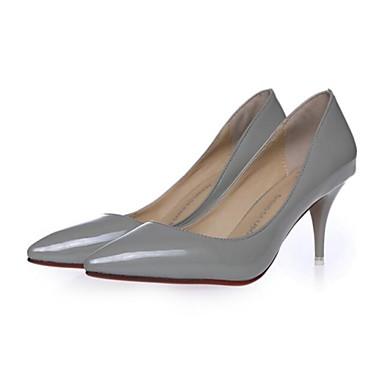 Γυναικεία παπούτσια - Γόβες - Φόρεμα - Τακούνι Στιλέτο - Με Τακούνι / Μυτερό - Δερματίνη - Μαύρο / Ροζ / Γκρι