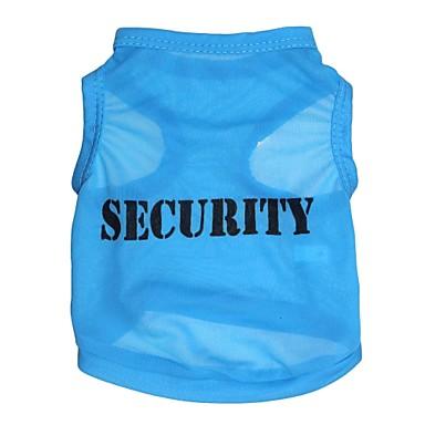 Cat Dog Shirt / T-Shirt Dog Clothes Letter & Number Blue Terylene Costume For Pets