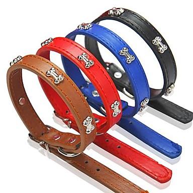 Hond Kraag Verstelbaar / Uitschuifbaar Zwart Bruin Rood Blauw